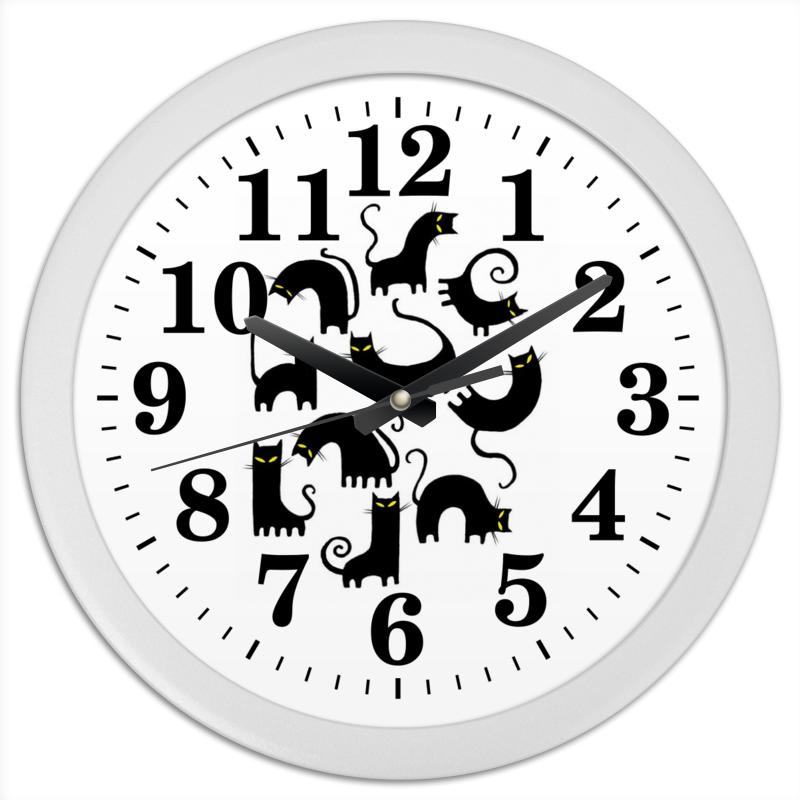 Часы круглые из пластика Printio Кошки 3 вида из vinda из бумаги 150 супер жесткой накачки насоса мягкой пакет 3 размера 3 го уровня