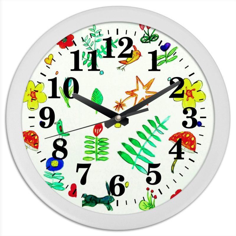 Часы круглые из пластика Printio Часы финская тема