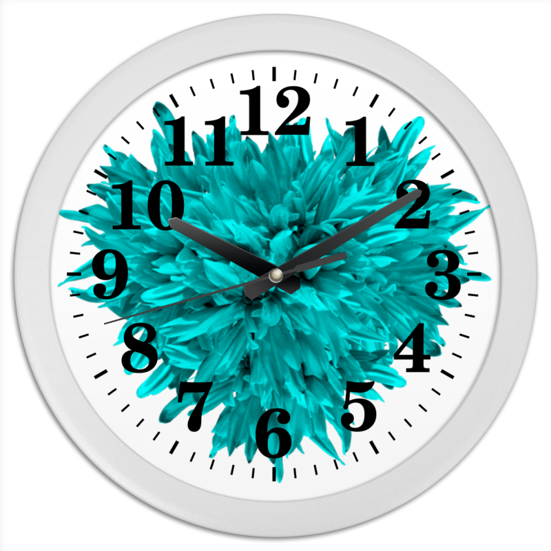 Часы круглые из пластика Printio Яркая жизнь