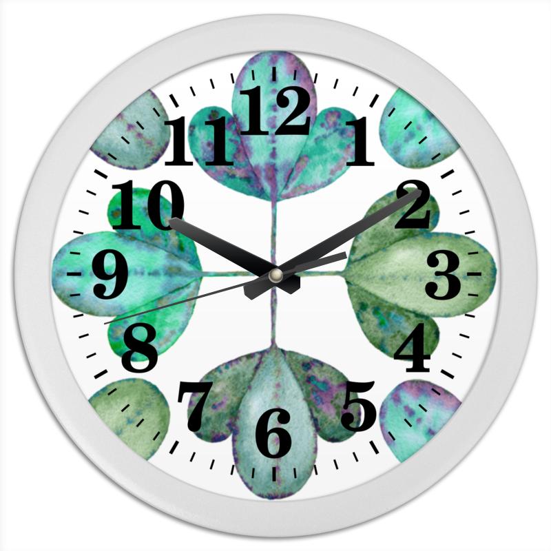 Часы круглые из пластика Printio Яркие листья холст 30x30 printio девушка в красном