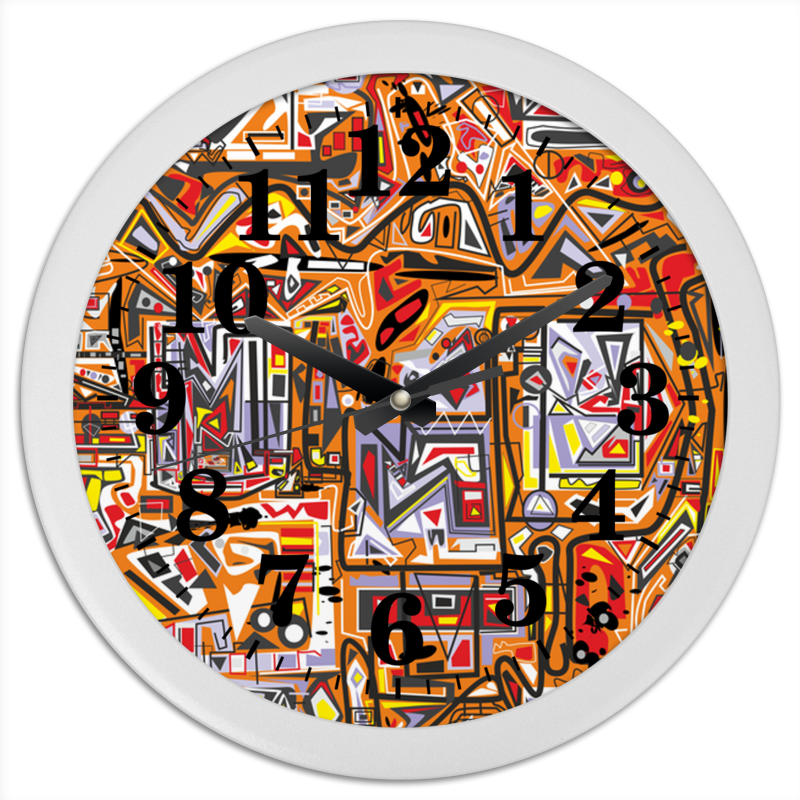Фото - Часы круглые из пластика Printio Оранжевый дом. бомбер printio оранжевый дом