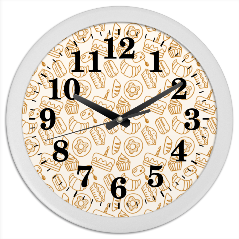 Часы круглые из пластика Printio Кухонные