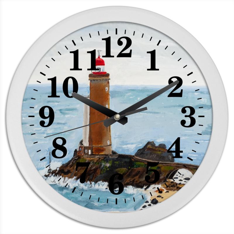 Часы круглые из пластика Printio Маяк petit minou картина коллаж 3d маяк русские подарки картина коллаж 3d маяк