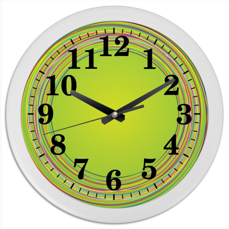 Часы круглые из пластика Printio Лужайка газон лужайка семена
