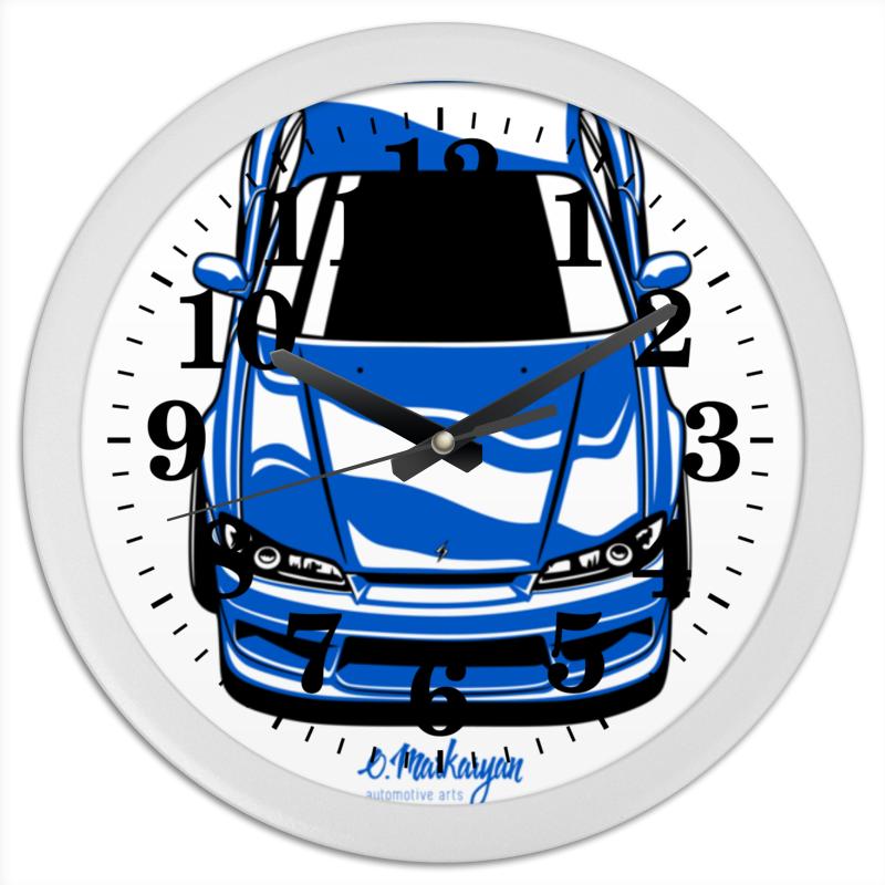 Часы круглые из пластика Printio Silvia s15