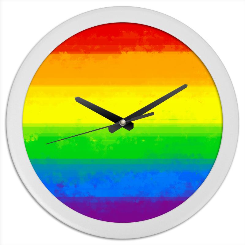 Printio Радуга часы круглые из пластика printio часы ассирийский флаг