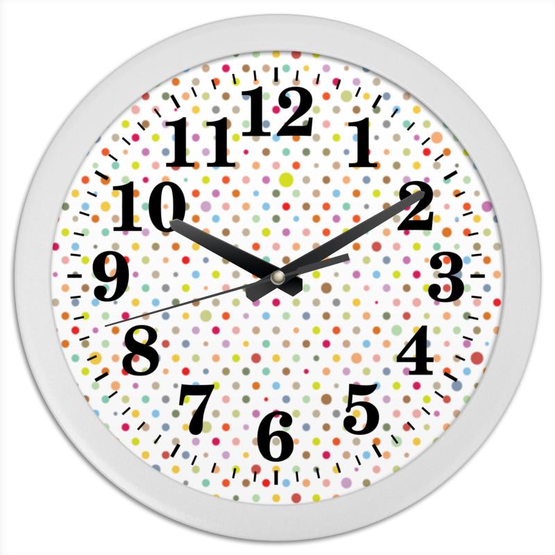 Часы круглые из пластика Printio Горошек чаша горошек 2 л бел син 1150426