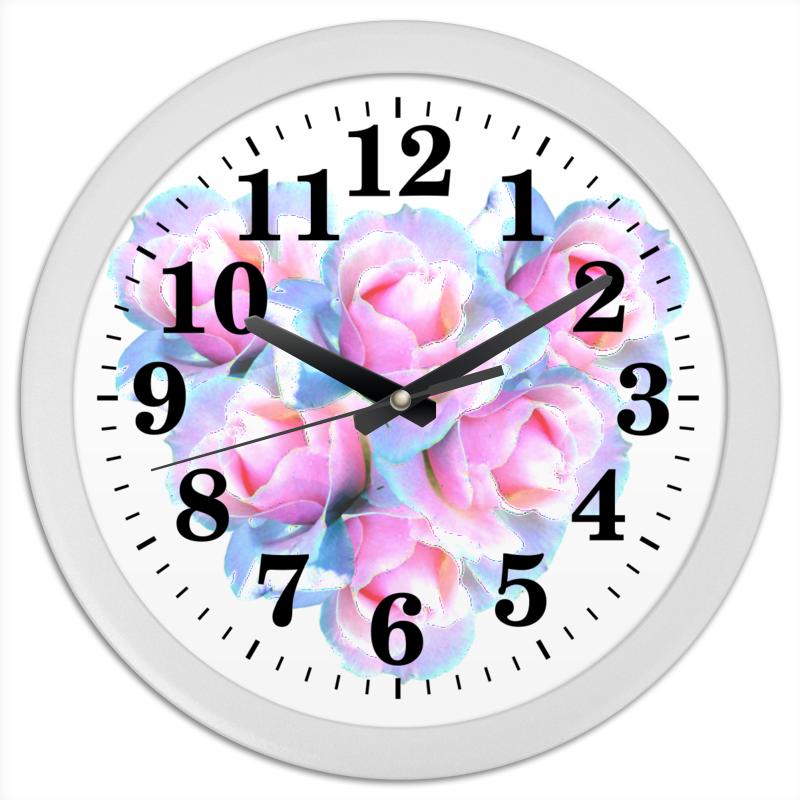 Часы круглые из пластика Printio Нежное сердце