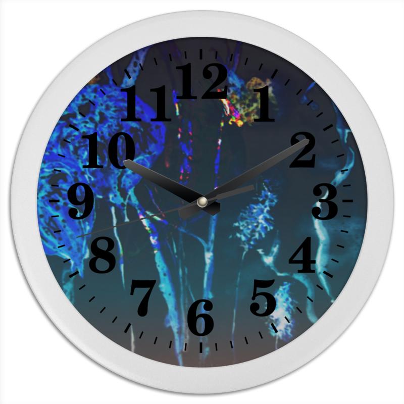 Часы круглые из пластика Printio Светящийся физалис холст 50x50 printio fast and sexy