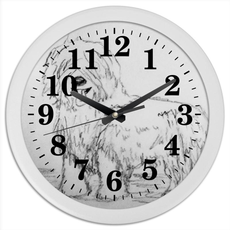 Часы круглые из пластика Printio Верный друг неизвестный друг