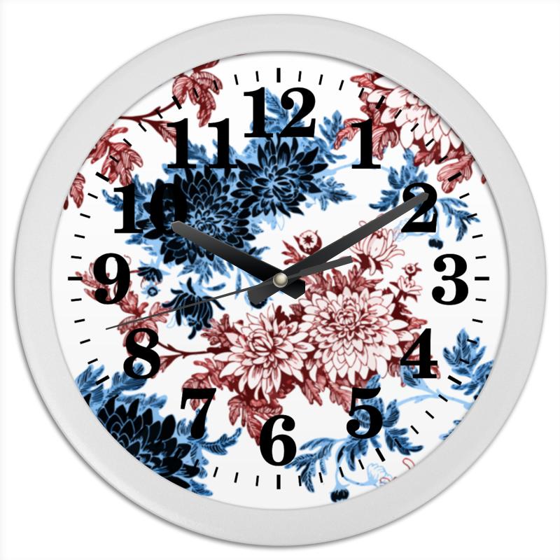 Часы круглые из пластика Printio Хризантемы часы круглые из пластика printio осенние листья