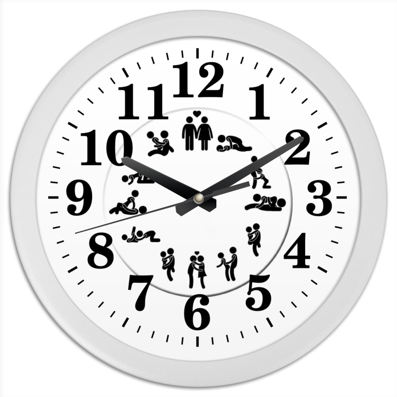 цена Часы круглые из пластика Printio Любовь