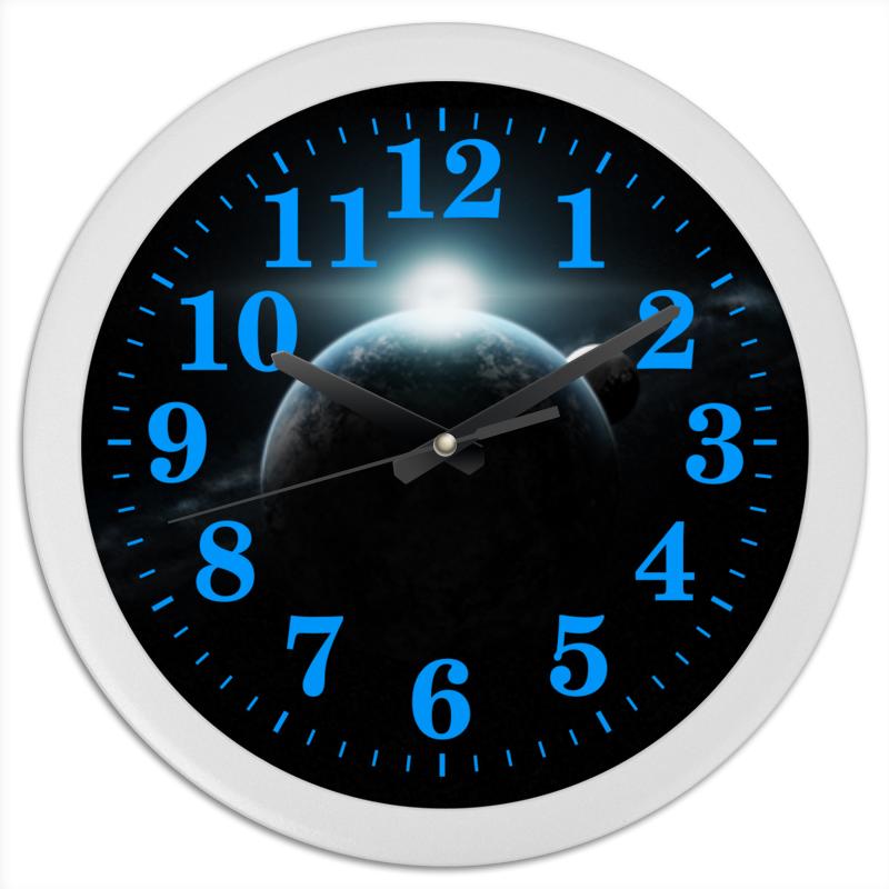 Часы круглые из пластика Printio Вселенная