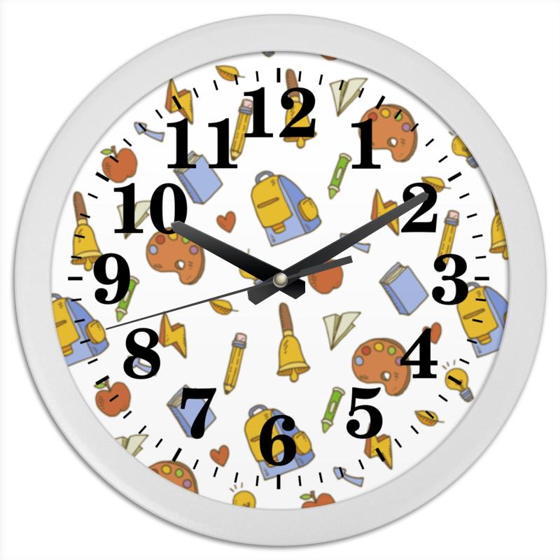 Часы круглые из пластика Printio Школьные