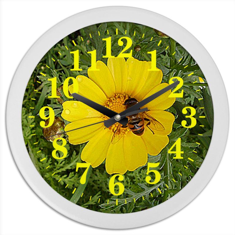 Часы круглые из пластика Printio Медовое время.
