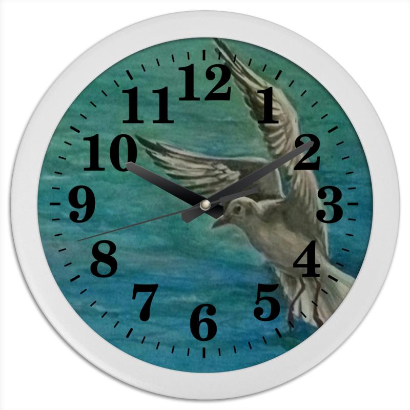Часы круглые из пластика Printio Чайка
