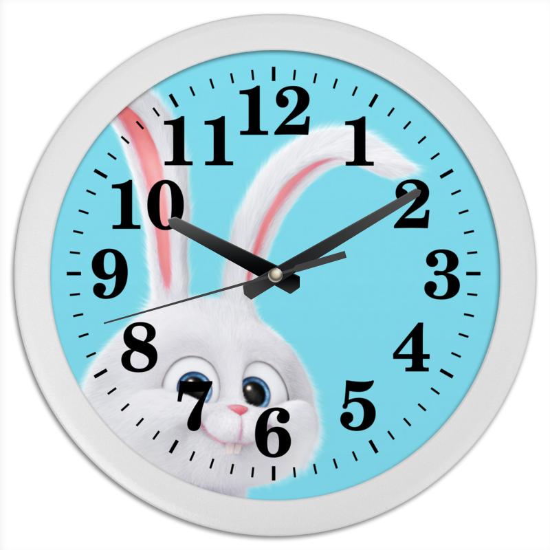 Часы круглые из пластика Printio Снежок пакет гипотермический снежок