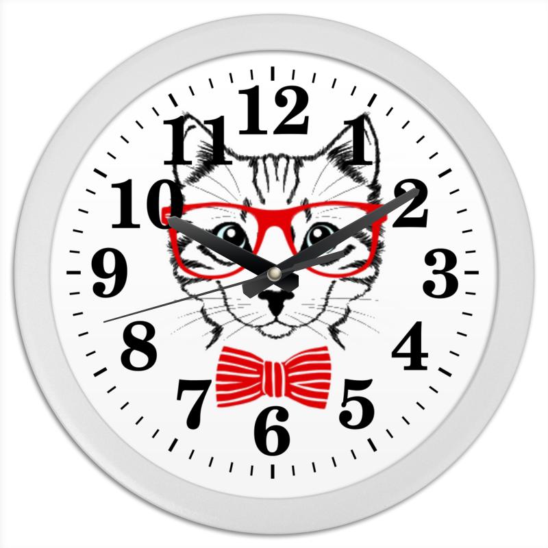 Часы круглые из пластика Printio Кошка часы круглые из пластика printio анютины глазки