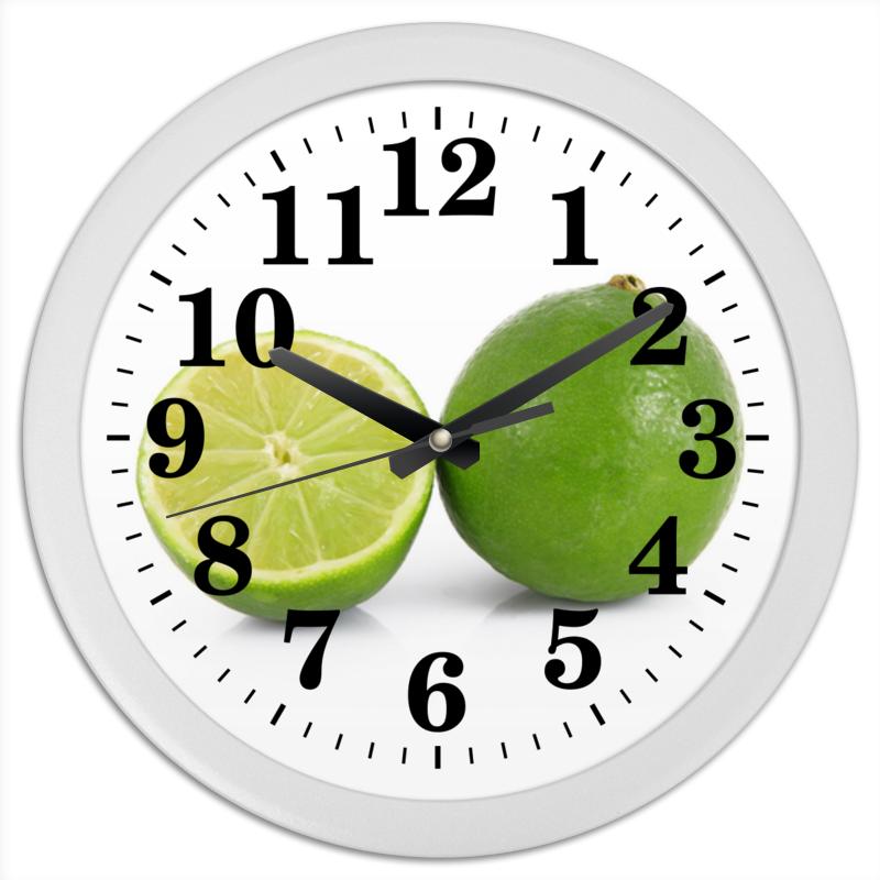 Часы круглые из пластика Printio Лаймы