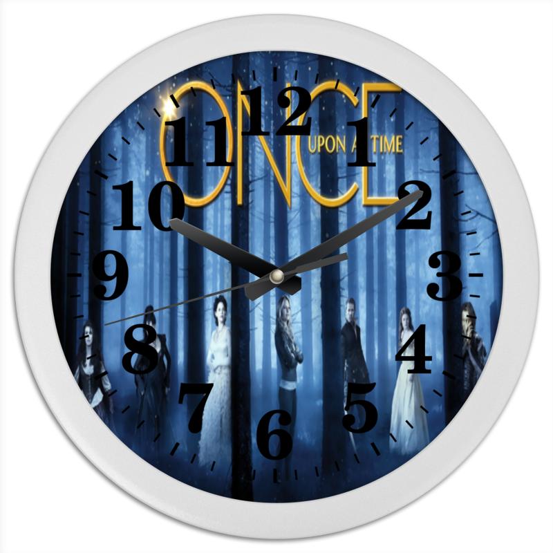 Часы круглые из пластика Printio Однажды в сказке в сказке