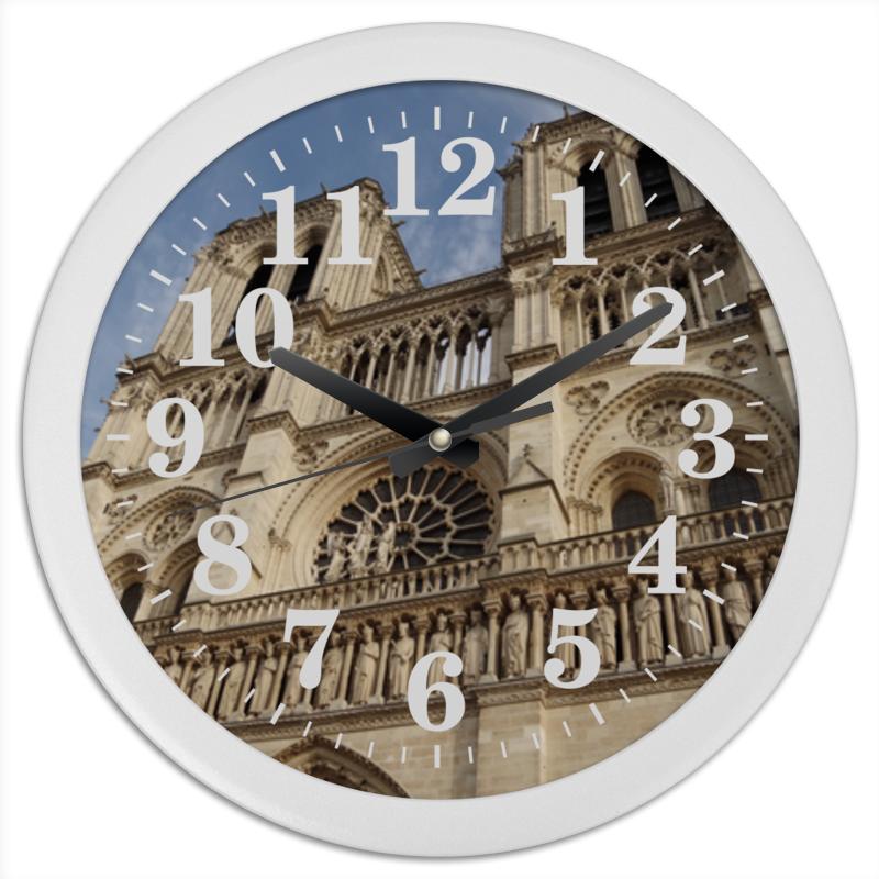 Часы круглые из пластика Printio Собор парижской богоматери