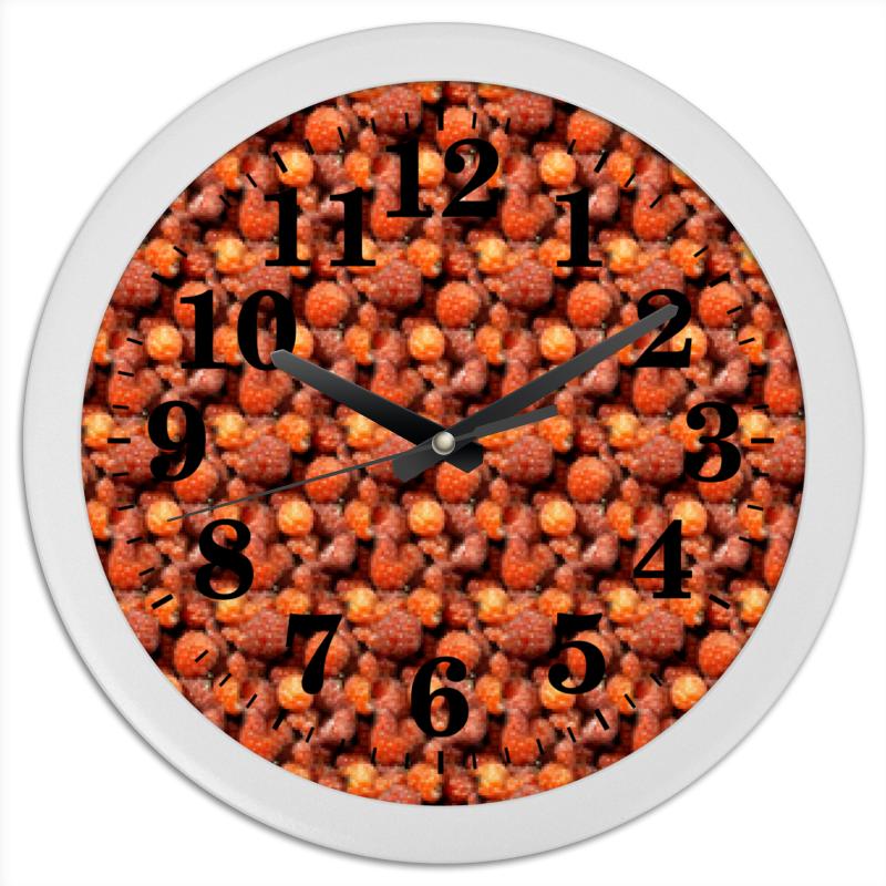 Часы круглые из пластика Printio Дикая малина анна белякова малина и ежевика урожайные ягоды