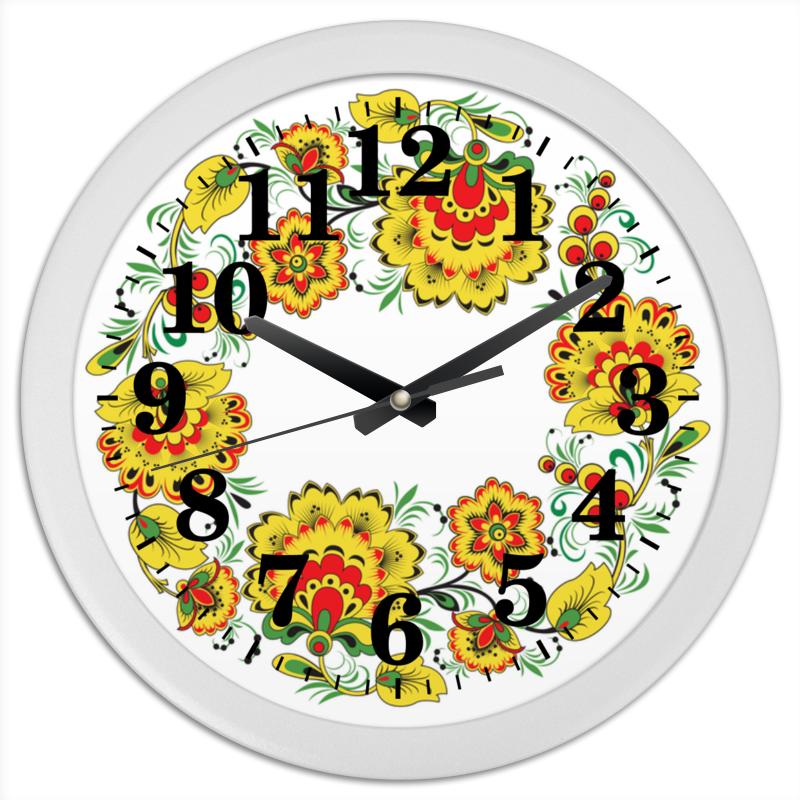 Фото Часы круглые из пластика Printio Русский орнамент 3
