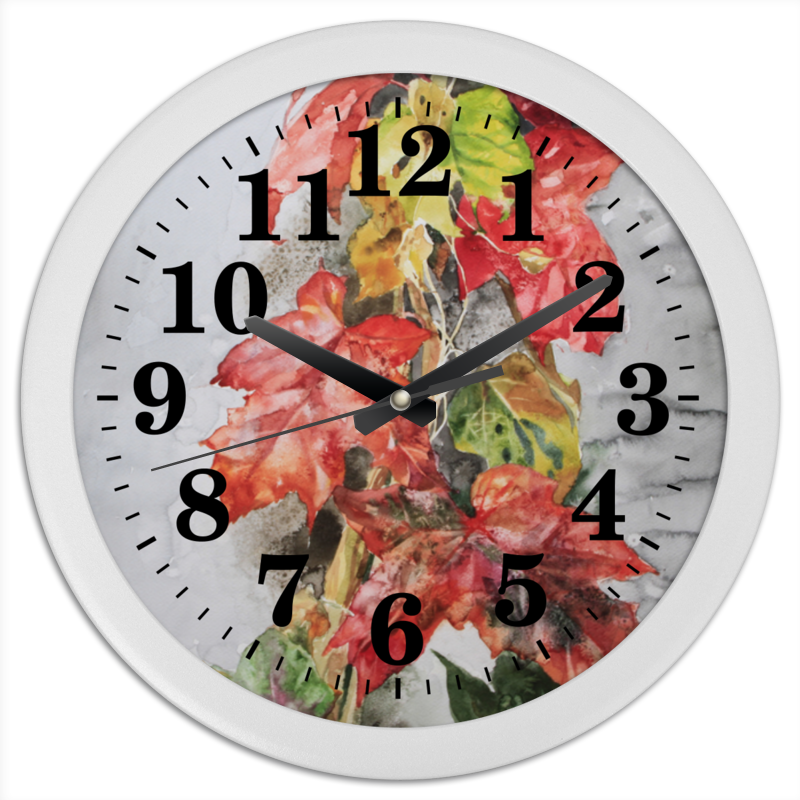 Printio Часы осенняя пора - очей очарование часы круглые из пластика printio purple