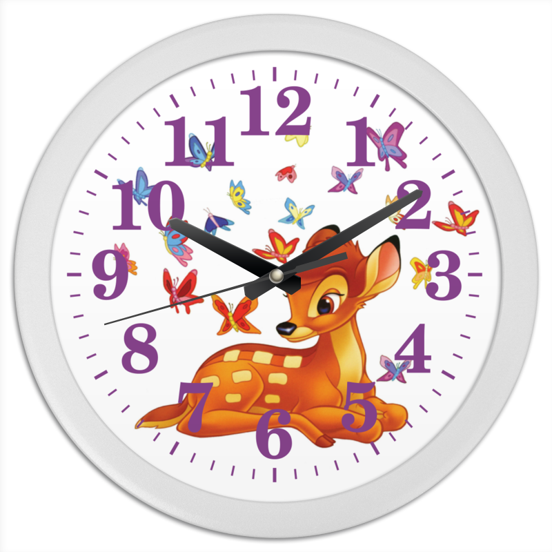 Часы круглые из пластика Printio Детские часики часы настенные серые круглые в россии