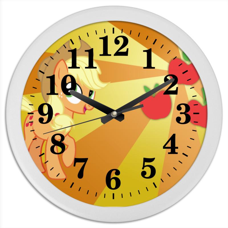Часы круглые из пластика Printio Applejack color line