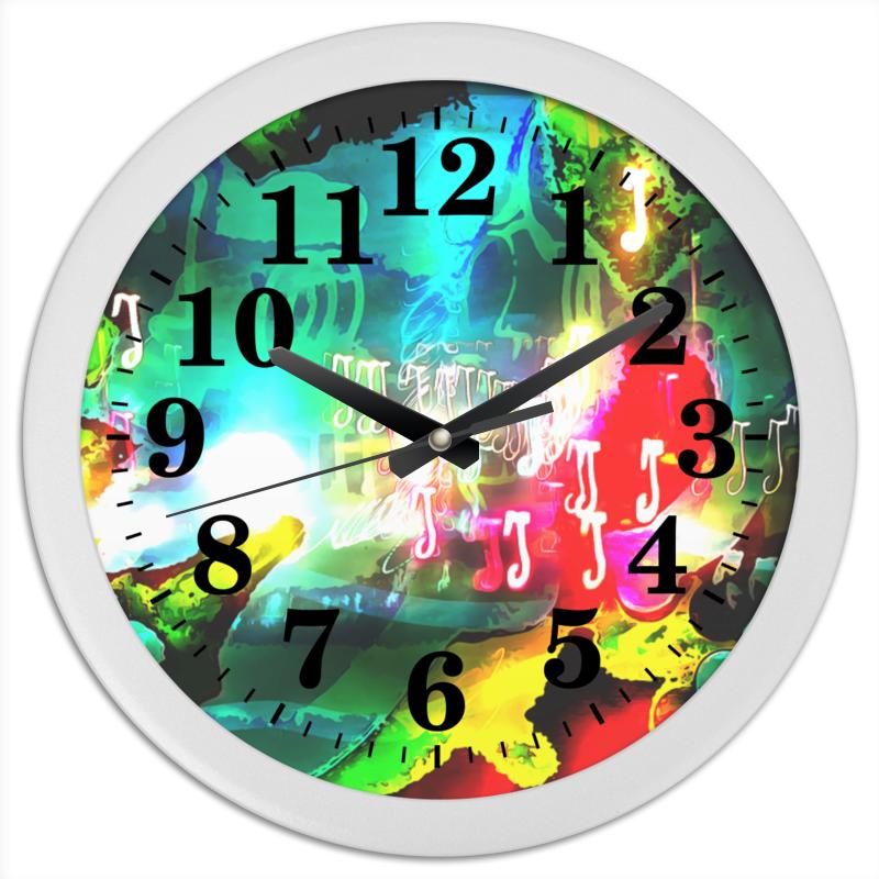 Часы круглые из пластика Printio Abstract raster 160 вкуснотеево молоко ультрапастеризованное 3 2