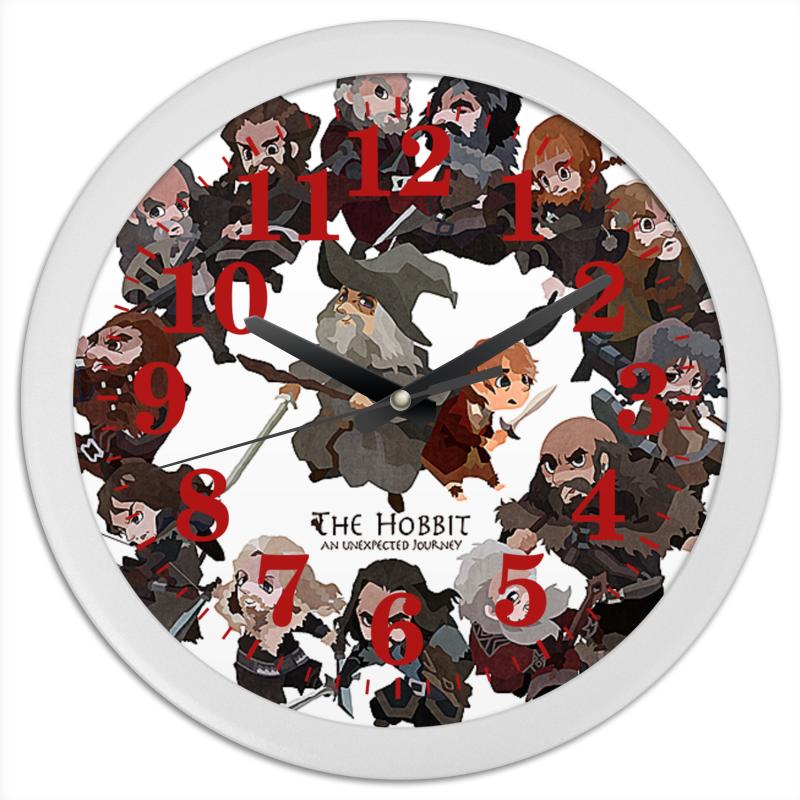 Часы круглые из пластика Printio The hobbit