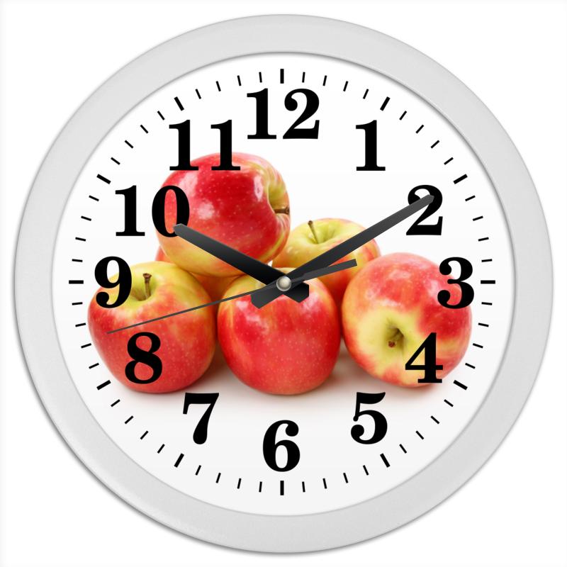 Часы круглые из пластика Printio Яблоки цена 2017
