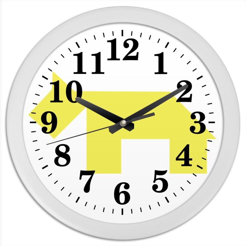 Часы круглые из пластика Printio Не будь собакой в новом году! чехол для ноутбука 14 printio голубая собака танграм