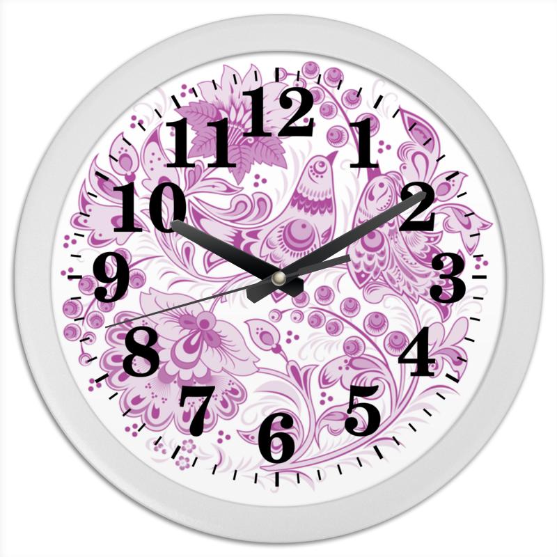 Фото Часы круглые из пластика Printio Русский орнамент 4