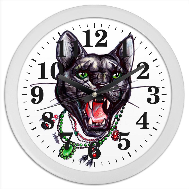 Часы круглые из пластика Printio Пантера часы круглые из пластика printio камуфляж
