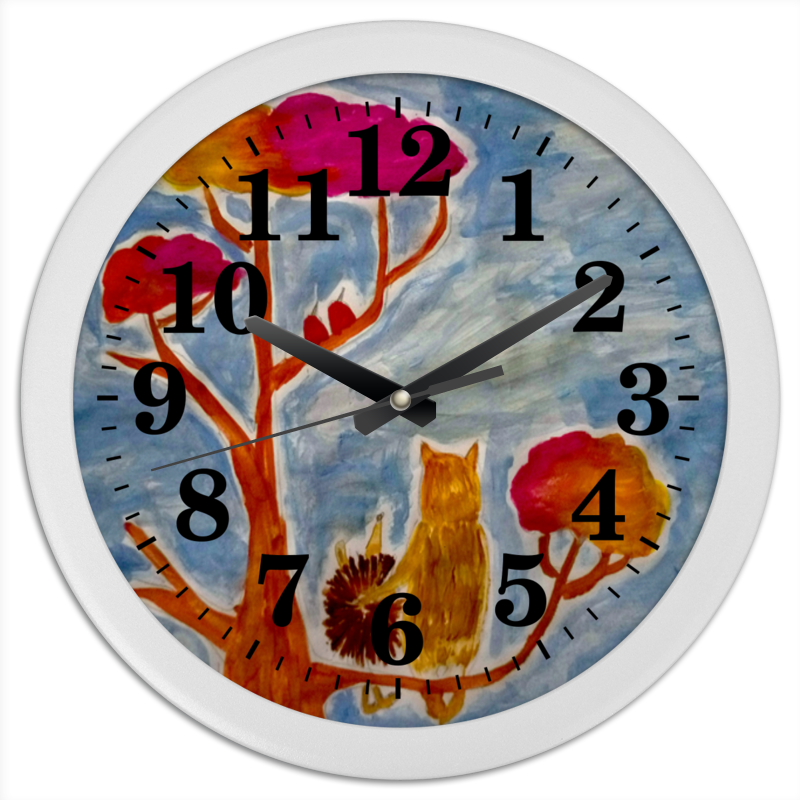 Часы круглые из пластика Printio Счастье