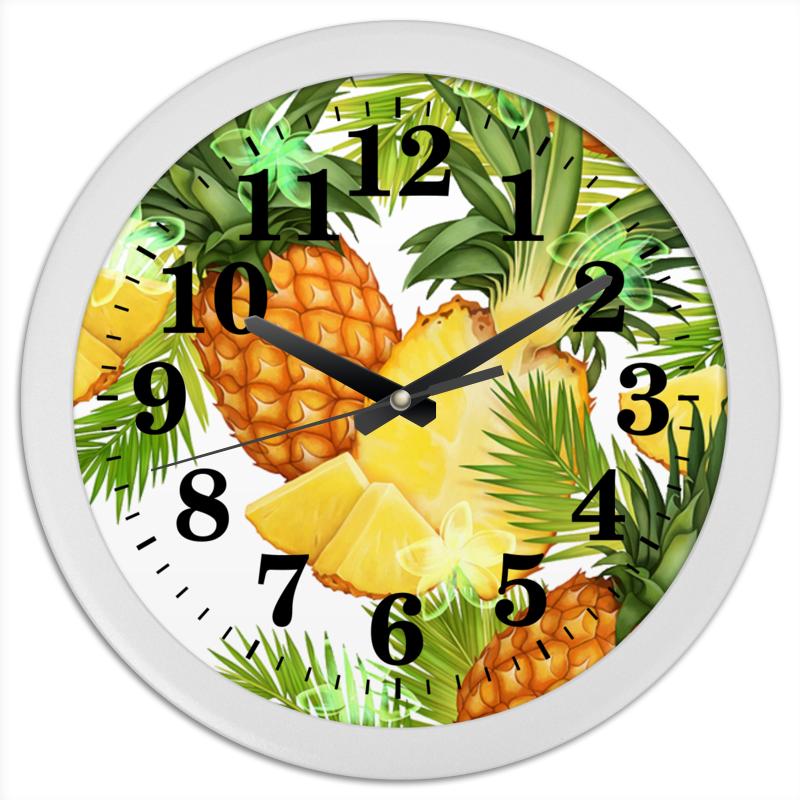 Часы круглые из пластика Printio Ананасы ананасы pikolin кусочки 580мл