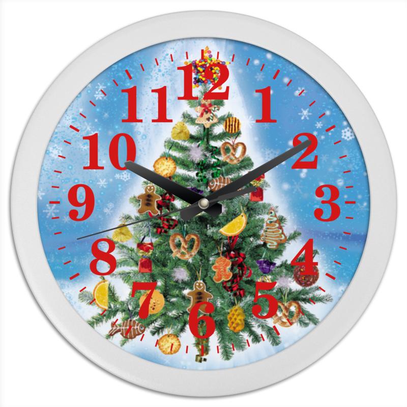 Часы круглые из пластика Printio Новогодняя елка (1) часы круглые из пластика printio nun 1
