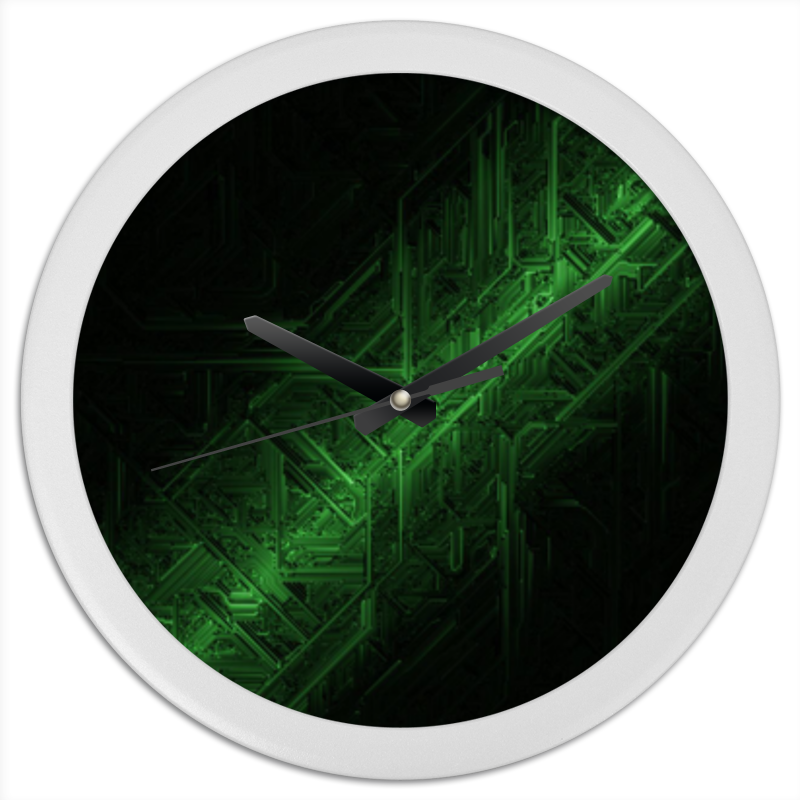 Часы круглые из пластика Printio Часы футурия часы nixon genesis leather white saddle