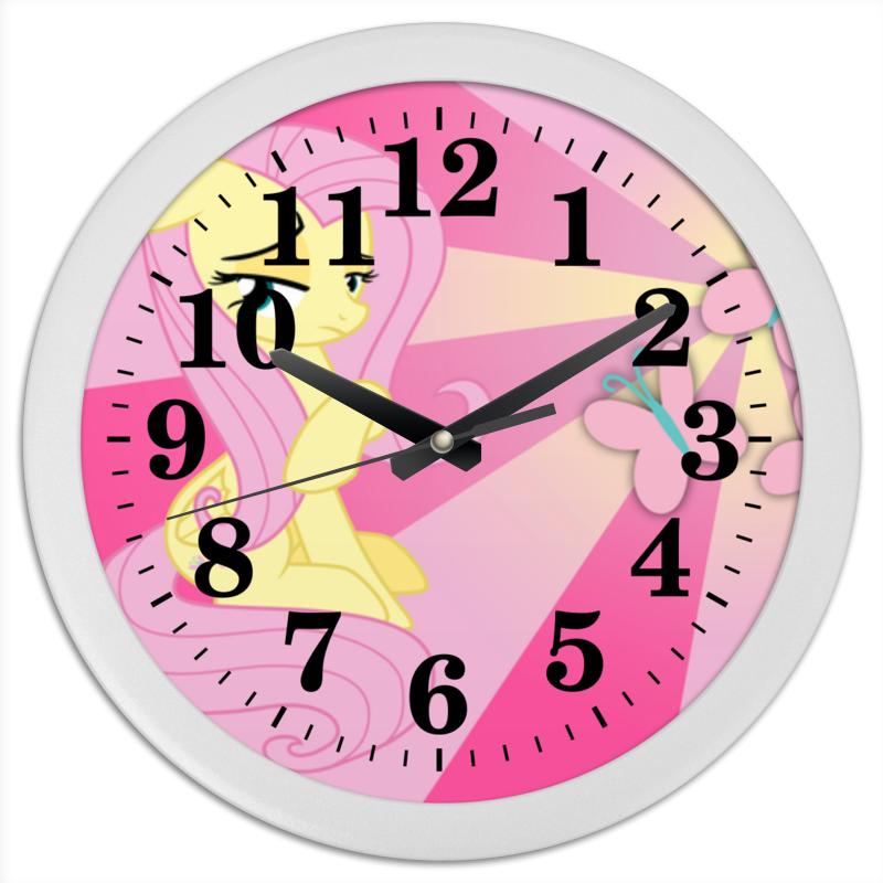 Часы круглые из пластика Printio Fluttershy color line