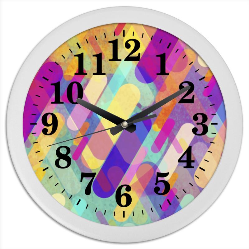 Часы круглые из пластика Printio Разноцветная абстракция часы круглые из пластика printio путаница абстракция