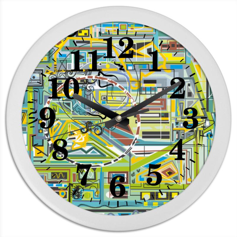 Часы круглые из пластика Printio Березка кроватка скв березка 120119 бежевый