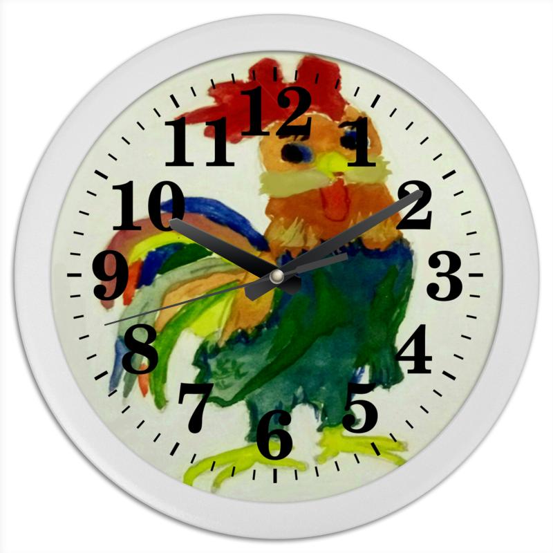 Часы круглые из пластика Printio Петушок леггинсы printio петушок