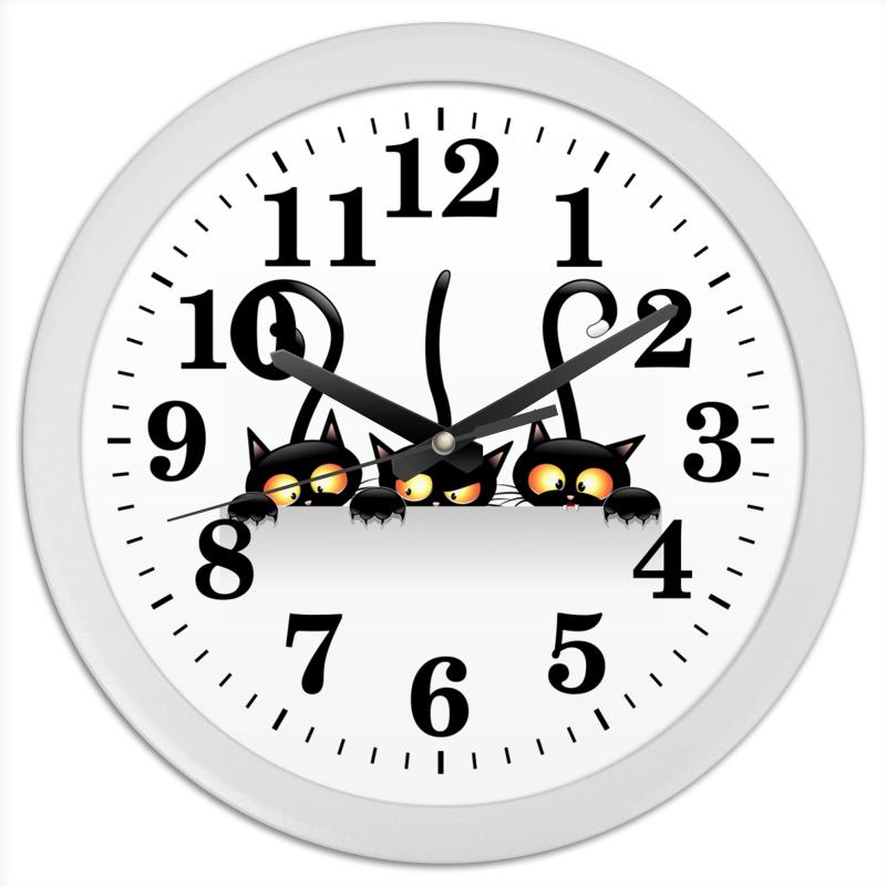 Часы круглые из пластика Printio Кошки 4 я emporia платина из бумаги светло роскошного 4 толстого слоя 66 серии жестких насосная патроны 4