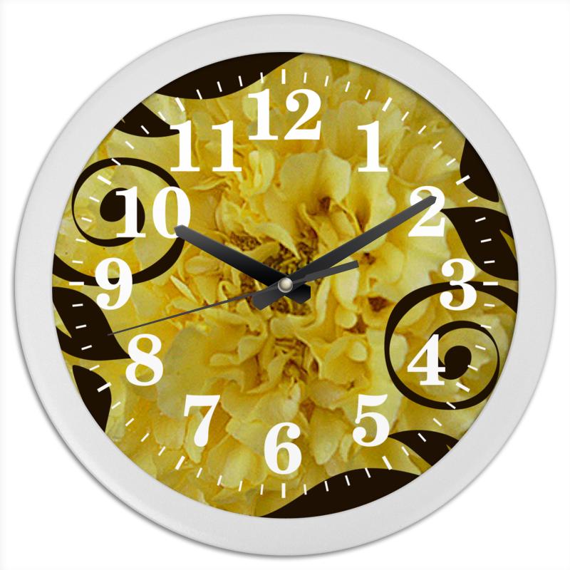 Часы круглые из пластика Printio Бархатное время.