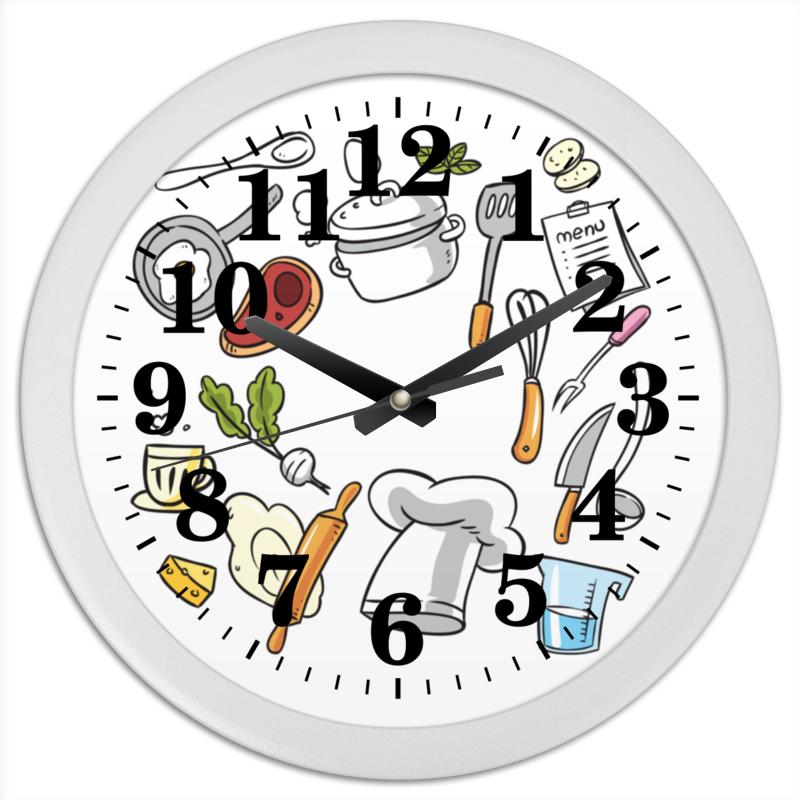 Часы круглые из пластика Printio Кухонные cntomlv новые кухонные инструменты dumpling jiaozi maker устройство easy diy dumpling mold dumpling wrapper cutter making machine