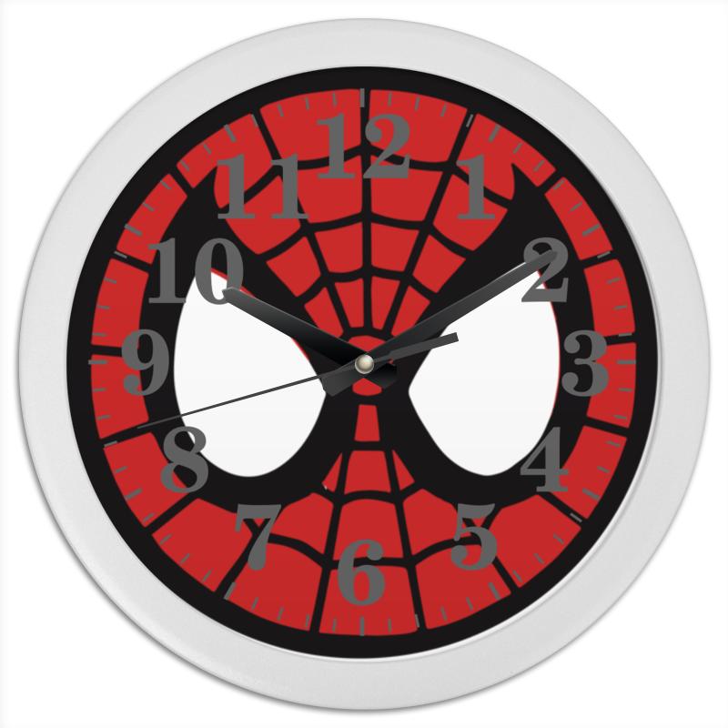 Часы круглые из пластика Printio Spider-man / человек-паук м пластика бутербродница человек паук