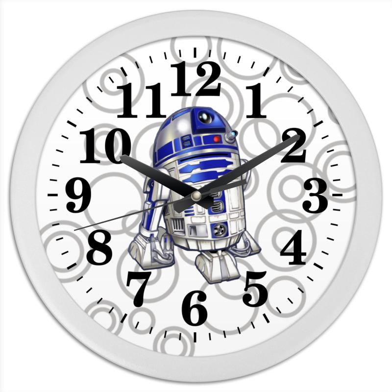 Часы круглые из пластика Printio R2d2 (starwars)