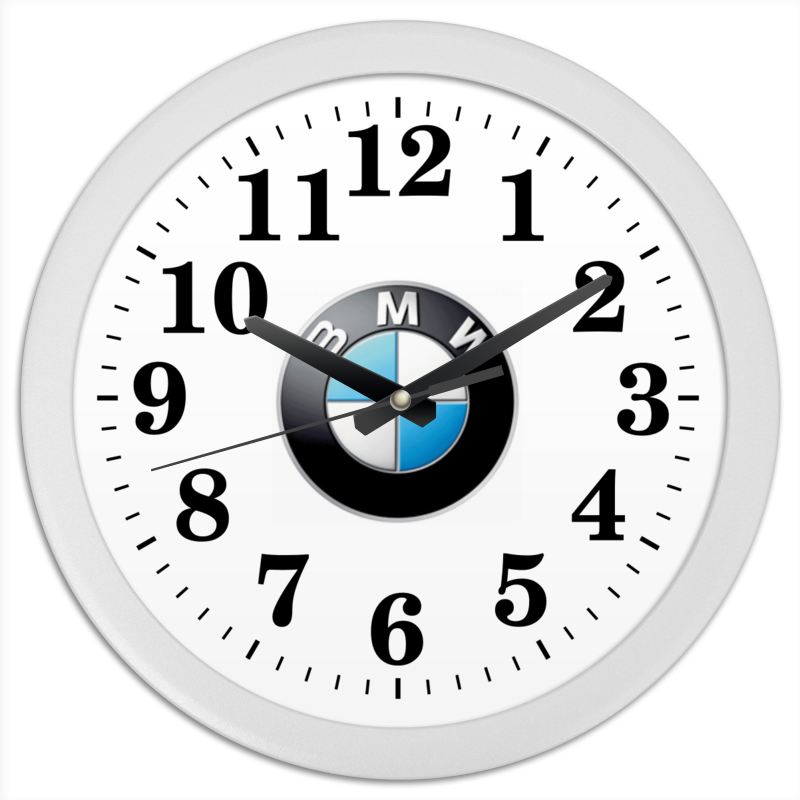 Часы круглые из пластика Printio Бмв - бмв